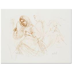 Three Women in the Fields by Hibel (1917-2014)