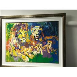 Lions Pride by LeRoy Neiman (1921-2012)