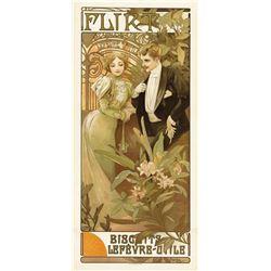 Alphonse Mucha - Flirt