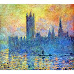 Claude Monet - London Parliament in Winter