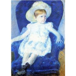 Mary Cassatt - Elsie In A Blue Chair 1880