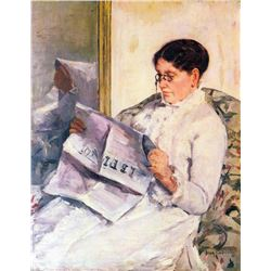 Mary Cassatt - When Reading Of Figaro