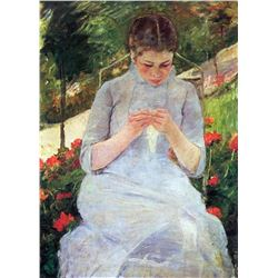 Mary Cassatt - Young Woman Sewing In The Garden