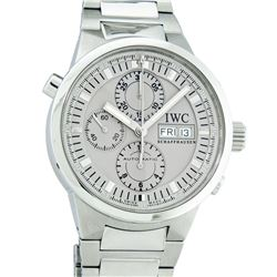 IWC Mens Stainless Steel 43mm GST Rattrapante Split Second Chronograph Wristwatc