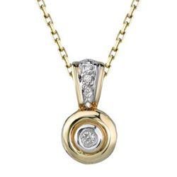 14k Yellow Gold 0.05CTW Diamond Pendant, (I1-I2/H-I)