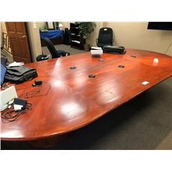 OVAL 96' X 72' CONFERENCE TABLE WITH BUILT IN ELECTRIC RECEPTACLES