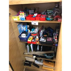 ALL OFFICE SUPPLIES IN BOTH STATIONARY CABINETS