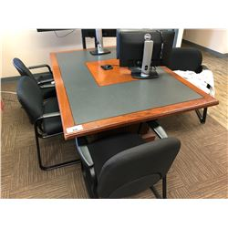 BOARD ROOM DESK WITH 6 CLIENT CHAIRS