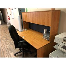 DESK WITH HUTCH AND CHAIR