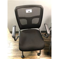 BLACK MESH BACK FOLDING MOBILE OFFICE CHAIR