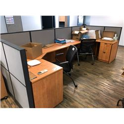 LH & RH DESKS WITH WALL PARTITIONS