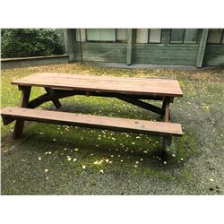 LARGE WOODEN PICNIC TABLE