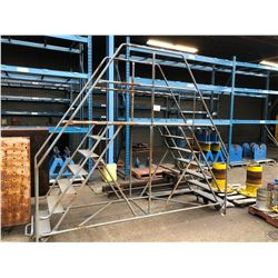 MOBILE DOUBLE SIDED 7 STEP WAREHOUSE STAIRS