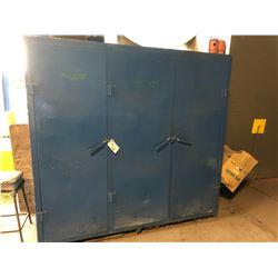 BLUE STEEL 3 DOOR TOOLING CABINET