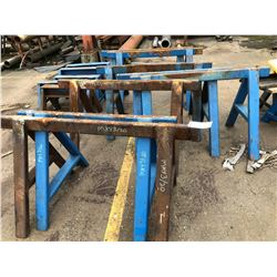 LOT OF BLUE STEEL SAWHORSE (APPROX 14)