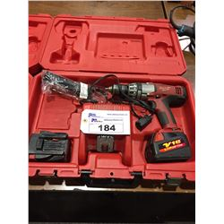 "MILWAUKEE 1/2""HAMMER DRILL WITH CASE, CHARGER AND 2 BATTERIES"
