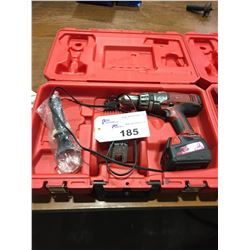 "MILWAUKEE 1/2""HAMMER DRILL WITH CASE, CHARGER AND 1 BATTERY"