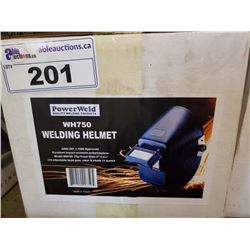 2 POWERWELD WH750 WELDING HELMETS