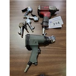 ASSORTED AIR TOOLS INCLUDES 2 AIR GUNS, AND AIR BLOW GUNS
