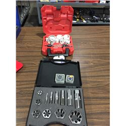 MD777P TAP & DIE SET AND MILWAUKEE  HOLE SAW KIT