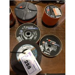 """LOT OF WALTER STAINLESS 7"""" X 1/4"""" X 7/8""""  & WALTER STAINLESS 7"""" X 1/8"""" X 7/8"""" GRINDING DISCS"""