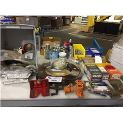 LOT OF ASSORTED FASTENERS, WD40, ANTI SEIZE, LOCKNUTS AND MORE