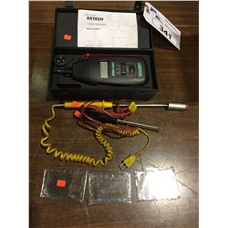 EXTECH INSTRUMENTS MODEL 461891 CONTACT TACHOMETER AND ASSORTED PROBES