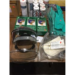 SAFETY SHIELD , KITO CHAIN LUBE, ASSORTED CUTTING FLUID AND MORE