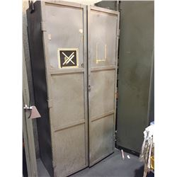 "79""H X  40""W X 20""D 2 DOOR 8 SHELF HEAVY DUTY CABINET"