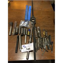 LOT OF ASSORTED THREADING TOOLING