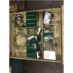 LOT OF ASSORTED SIZE HOSE CLAMPS