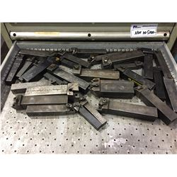 LOT OF ASSORTED SIZE TOOLING HOLDERS FOR LATHES
