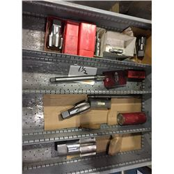 LOT OF ASSORTED SIZE LARGE TAPS