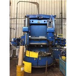 """TOS TYPE SK16 S/N 22120507 VERTICAL TURNING LATHE W/DIGITAL READ OUT ON BOTH RAMS, 64"""""""