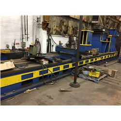 SWIFT WC HEAD LATHE BED WITH NILES 4 JAW CHUCK POWER HEAD