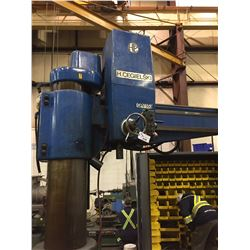 """H. CEGIELSKI 6' RADIAL ARM DRILL WITH 16"""" COLUMN & 48X32"""" TWO SIDED T.SLOT TABLE"""