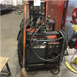 MOBILE KEMPPI PS 500 WIRE FEED WELDER WITH COOLER