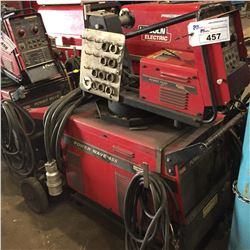 MOBILE LINCOLN POWER WAVE WIRE FEED WELDING UNIT WITH COOL AIR ARC 40