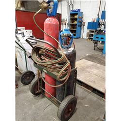 TORCH CART WITH HOSE AND CUTTING HEAD (BOTTLES NOT INCLUDED)