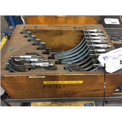12 BOX SET OF MITITUTOYO MICROMETERS  WITH STANDARDS