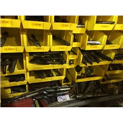 BOTTOM 5 ROWS OF ASSORTED DRILL BITS IN BLUE TOOLING CABINET