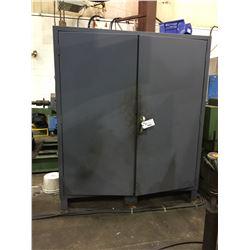 LARGE METAL BLUE 2 DOOR TOOLING CABINET