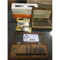 LOT OF ASSORTED MITUTOYO AND KURODA GAUGE BLOCKS