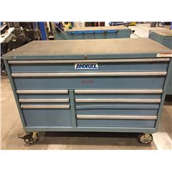 "LISTA 9 DRAWER 56""L X 28""W X 41""H MOBILE TOOL CABINET"