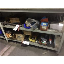ALL  CONTENTS ON RIGHT SIDE OF MIDDLE SHELF AND BOTTOM SHELF, INCLUDES FITTINGS, TOOLS, HARDWARE