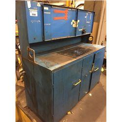 "HEAVY DUTY METAL 65""W X 24""D X 63""H 5 DOOR BLUE CABINET"