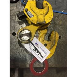 2X   2 TON STEEL PLATE CLAMPS