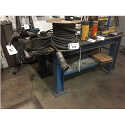 STEEL WORK BENCH WITH SWIVEL VISE