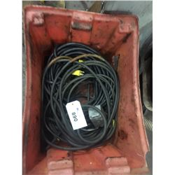 BUCKET WITH ELECTRICAL CORD CONTENTS