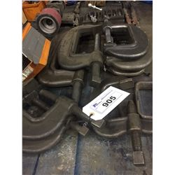 9 LARGE C-CLAMPS